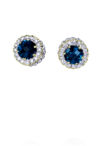 silver color stone earrings by Vahan