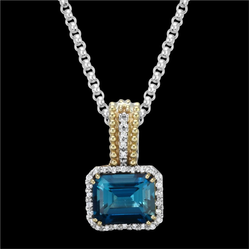 Color Stone Pendant by Vahan