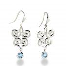 silver color stone earrings by Zina Sterling